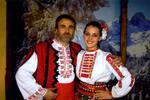 Никола Григоров с знаменоската Деница